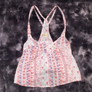 Hollister patterned strappy tank top